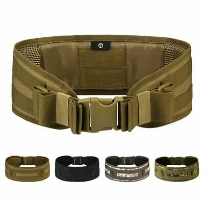Mens Tactical Military Padded Waist Belt MOLLE Battle Combat Multifunction Belt