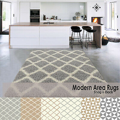 Soft Shaggy Rugs Living Room Fluffy Area Carpets 5cm High Pile Bedroom Runners