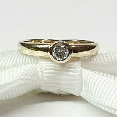 Genuine Diamond Engagement ring with 0.20ct 9K Yellow Gold #345