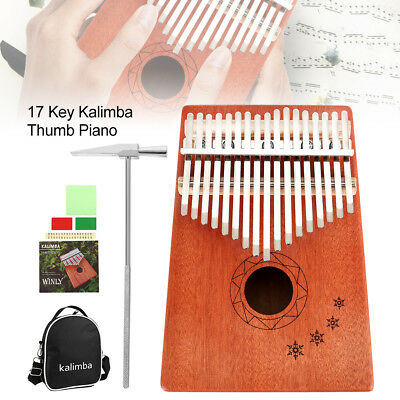 17-Key Kalimba Single Board Thumb Piano Electric Pickup Keyboard Instrument