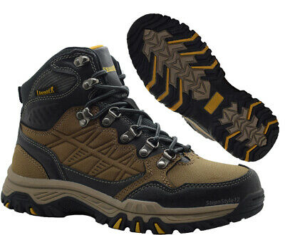 New Mens Outdoor Terrain Walking Hiking Lace Up Boots Hi Top Trainers Shoes Size