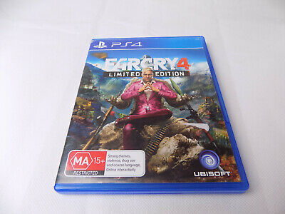 Mint Disc Ps4 Playstation 4 Far Cry 4 Farcry Limited Edition Free Postage