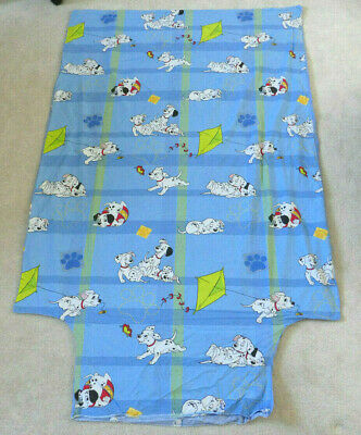 Vintage Disney 101 Dalmatians Single Duvet Cover Blue Dogs Puppies Bedding Retro