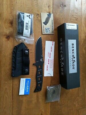 New Benchmade 375BK 375 Adamas Fixed Blade Tactical Military Knife w/ Sheath