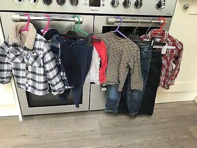 Boys 18-24 Months Clothes Bundle Next Jeans Chinos Shirts Joggers Summer