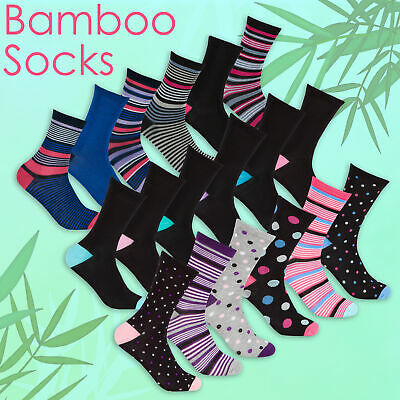 Women's Ladies Super Soft Bamboo Socks Gentle Stretchy Anti Bacterial Size 4-7