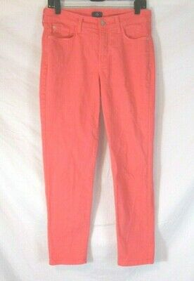 NYDJ Not Your Daughters Jeans Ankle Skinny Pants Orange Pink Sz 8 Womens CC681