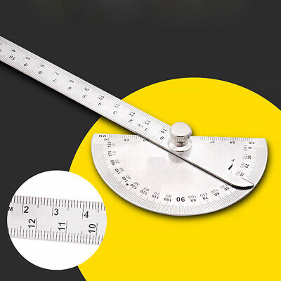 180 Degree Stainless Steel Protractor Angle Ruler Finder Woodworking Tool Useful