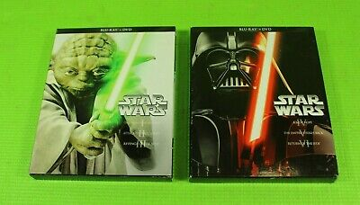 Star Wars The Complete Saga (Blu-Ray/DVD 12-Disc Set) Episodes I,II,III,IV,V,VI