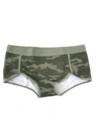 7506a689ccb Victoria s Secret PINK Wide Waistband Logo Boyshort Panty Size L Green Camo