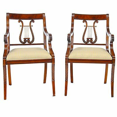 NDRAC008, Niagara Furniture, PAIR Lyre Arm Chair, PAIR Harp Back Chair