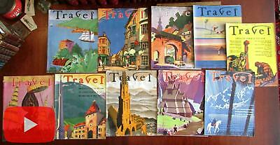 Art Deco Travel 1936-9 excellent lot of 10 full issues poster art covers ads fun