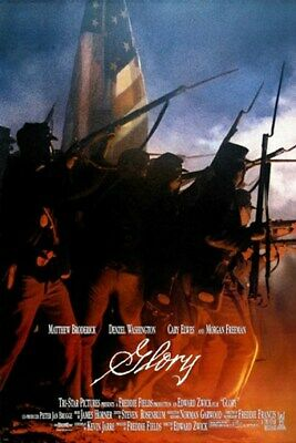 CIVIL WAR movie poster GLORY matthew broderick DENZEL WASHINGTON 24X36 1989