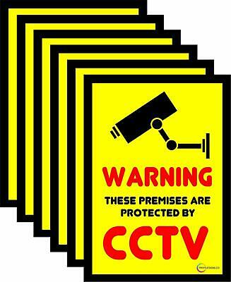 CCTV Reverse Print Window Stickers CCTV105x75mm QTY 1,6,10,25,50 Free Delivery