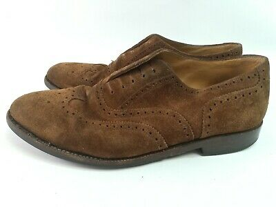 6b053937 Loake Brown Suede Leather Men's Brogues Lace Up Shoes UK 8.5 EUR 42.5