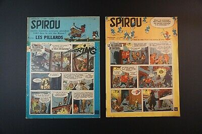 Spirou 1071 1072 First Appearance of the Smurfs by Peyo (1958)