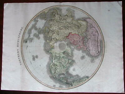 Northern Hemisphere North America Africa Asia 1814 world map