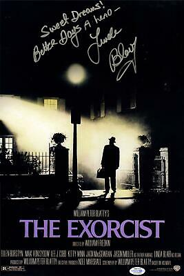 The Exorcist Linda Blair Autographed Signed 12x18 Poster Photo ACOA Witness ITP