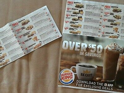 3× Buger King Coupons( Exp. 7/14/2019 & 8/4/2019)