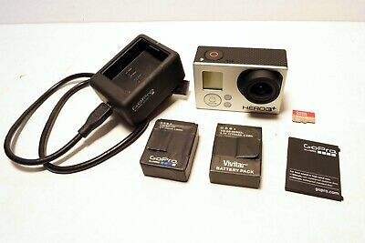 GoPro Hero3+ Black Edition Camera Kit W/Batteries and Charger 64GB SD Card