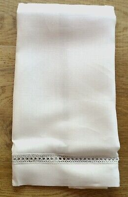 Set of 2 towels Irish Linen White Tulipani /& Gilucci Guest Towels G8902W
