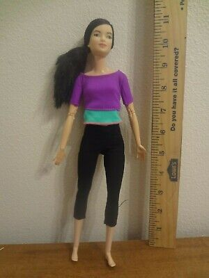 Made to Move Asian BARBIE! Purple top, 2015. Super posable! OOB (LOT AP)
