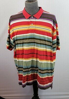 7884da37 Polo Ralph Lauren Mens Polo Shirt 2XL Multi-Color Stripe Short Sleeve XXL