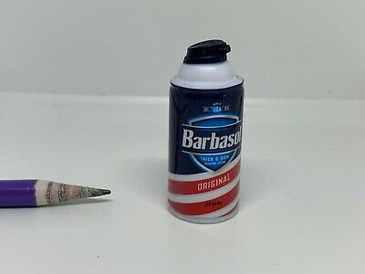 T081 Dollhouse Miniature Barbasol Original Shaving Cream migros supermarket