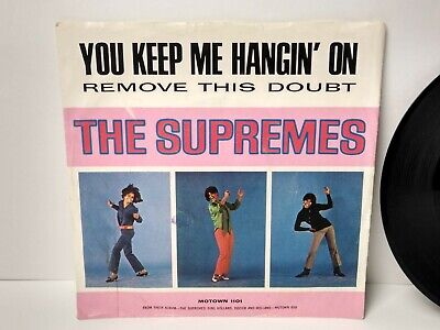 SOUL 45 Record & PICTURE SLEEVE SUPREMES ON MOTOWN YOU KEEP ME HANGIN' ON R & B