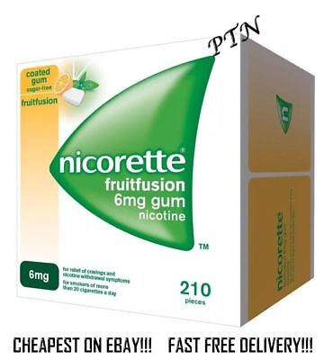 Nicorette Gum Fruitfusion 6mg 210 pieces  Multiple Packing price  Expiry 03/2021
