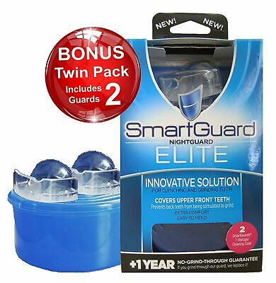 SmartGuard Elite Night Guard (2 Guards & 1 Cleaning Case) for Clenching & Grindi
