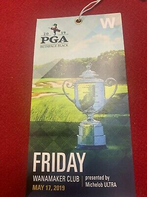 2019 PGA Championship Friday Ticket @ Bethpage with access to Wanamaker Club