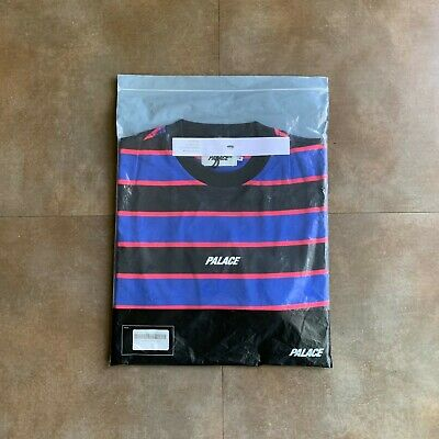 d6a63d4aff Palace Striped Longsleeve Heavy Stripes Mens Medium Black/Pink/Blue Ultimo  2018