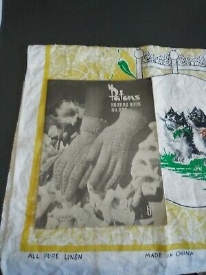VINTAGE  PATONS KNITTING BOOK No 232 WOMENS GLOVES 1940s  (#KB-265)