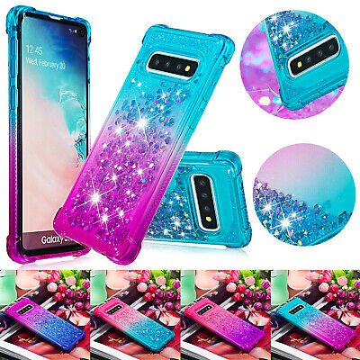 For Samsung S10e Case S9 S8 Plus Glitter Quicksand TPU Rubber Shockproof Cover