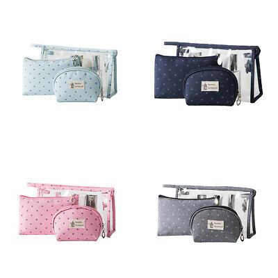 Cosmetic  Storage Toiletries Bags 3pcs/set PVC  Outdoor  Bag Make Up Makeup
