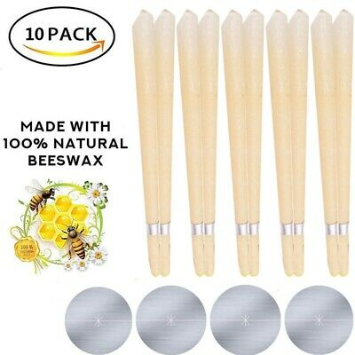 10Pcs Ear Cleaner Wax Removal Candles Treatment Care Healthy Hollow Candles AU
