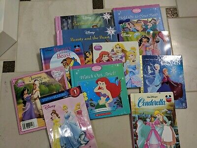 Disney Children's Princess Books, Lot Of 11, Little Mermaid, Cinderella,...