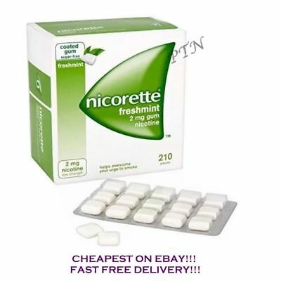 Nicorette Gum Freshmint 2mg of 210 piece with Multi-Buy 1 2 3 4 8 Expiry 10/2021