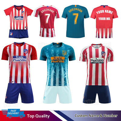 818987b8654 18 19 20 Football Soccer Full Kit Kids Youth Team Jersey Short Strips Sport