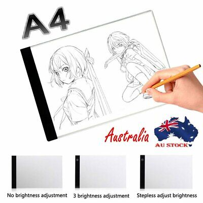 A4 LED Drawing Pad Tracing Light Table Box Dimmable Artist Tattoo Stencil Board