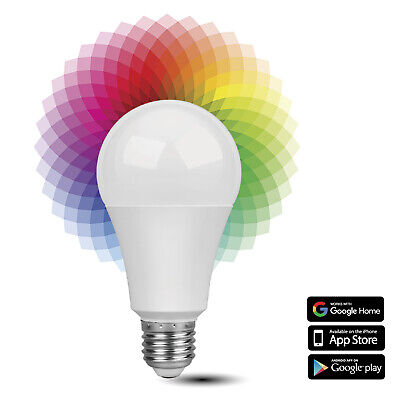 Smart WiFi LED Light Bulb - Wireless Multicolored Home Automation Lighting