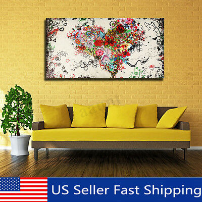 Large Modern Canvas Abstract Hand Painted Painting Picture Home Decor Unframed