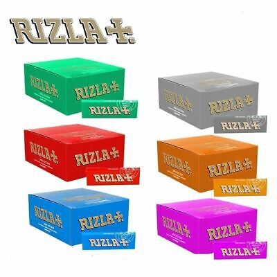 1000 Rizla Green Red Blue Cigarette Rolling Papers - 20 Booklets Standard Size