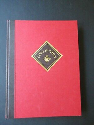 Superb Linen Covered Prinz Collection Stamp Stock book 16 Page 32 sides