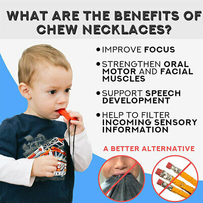 1PC Chewing Brick Sensory Chew Silicone Necklace Pendant Baby Teether Autism Toy