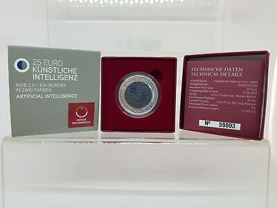 Austria 25 Euros 2019 Niobio/Plata Proof - Inteligencia Artificial