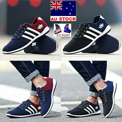 AU Stock 2019 Men's UK 6-9 Shoes Breathable Casual Canvas Sneakers Running Shoes