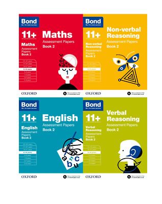 Bond 11+ English 4 Books Set Ages 9-10 Inc Assessment and Tests Book 2