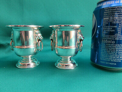 Matched pair of Viners Silver-plated miniature urns